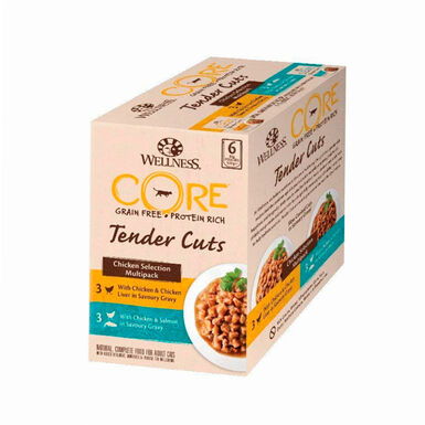 Wellness Core Tender Cuts Chicken Selection para gatos Pollo 6 x 85 gr