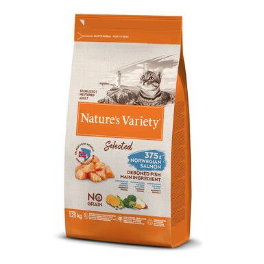 Nature's Variety Selected con salmón noruego para gato esterilizado