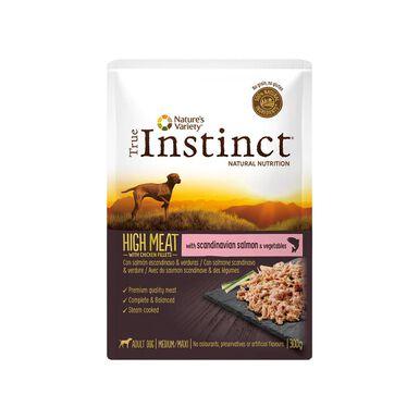 Saqueta True Instinct High Meat 300g Comida húmida para cão