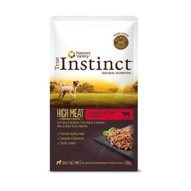 Saqueta True Instinct High Meat Mini 8 x 150g Comida húmida para cão
