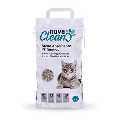 Pack 4 Sacos Arena perfumada no aglomerante para gatos Nova Clean 7L