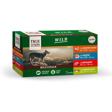 True Origins Wild Multipack 6 unid. 200 gr