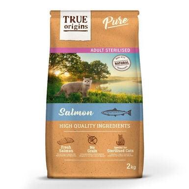 True Origins Pure Cat Adult Sterilised Salmão - 2x7kg Pack Poupança