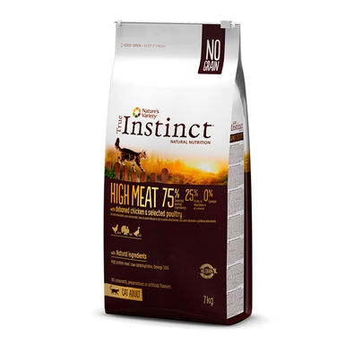 True Instinct Feline High Meat Adult com frango e aves