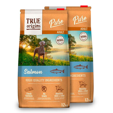True Origins Pure Dog Adult Salmão - 2x12 kg Pack Poupança