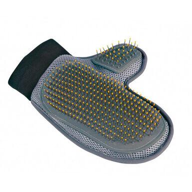 Luvas de cardas metálicas Trixie para o cuidado da pelagem