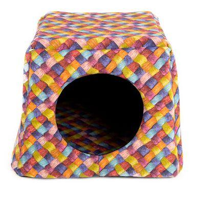 TK-Pet Doble Trenza cama cueva para gatos 2 en 1