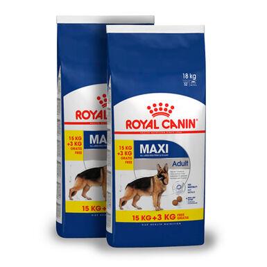 Royal Canin Maxi Adult - 2x(15 kg+3 kg) Pack Poupança