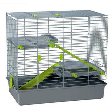 Voltregá jaula con tres alturas para conejos y cobayas