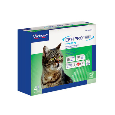Antiparasitário externo Effipro Duo para gato
