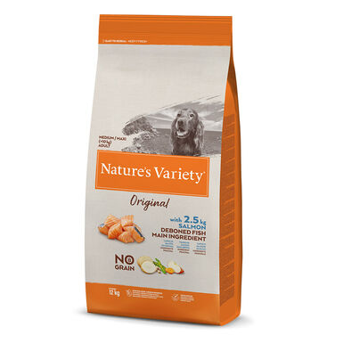 Nature's Variety Original Sin Cereales Medim Adult Salmón