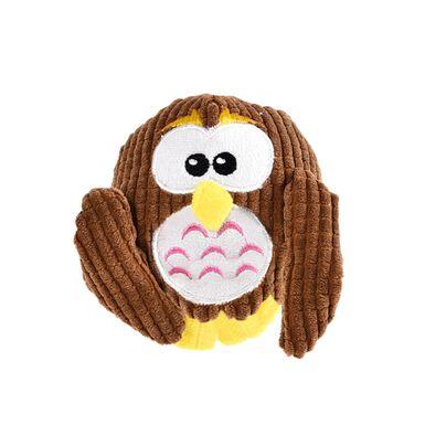 Plush Ball Owl Play & Bite brinquedo para cão