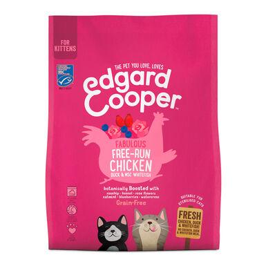 Edgard & Cooper para Filhotes de Gato sabor frango de granja e peixe branco 1,75 kg