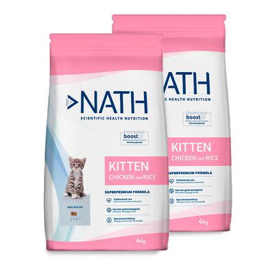 Pienso para gatitos Nath Cat Kitten - 2 x 4 kg
