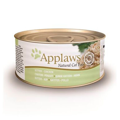 Pack 24 Latas Applaws Alimento húmido kitten frango 70 g