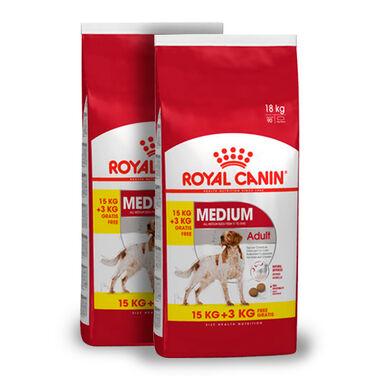 Royal Canin Medium Adult - 2x(15 kg+3 kg) Pack Poupança