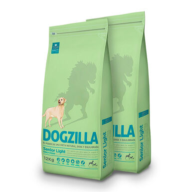 Dogzilla Senior Light - 2x12 kg Pack Poupança