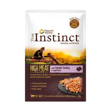 Pack 8 Saquetas True Instinct High Meat Feline Pouch vários sabores 70 g