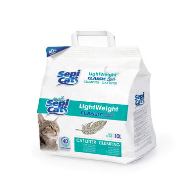 Sepicat LightWeight Classic Spa aglomerante 10 L areia para gato