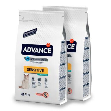 Affinity Advance Feline Sterilized Sensitive salmón y cebada - 2x10 kg Pack Ahorro