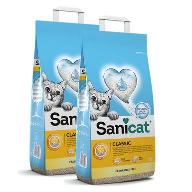 Areia Sanicat Classic - 2x10 litros Pack Poupança