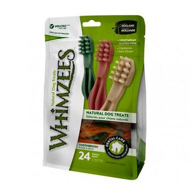 Snack natural em saco Escova de dentes Whimzees para cães de vários tamanhos