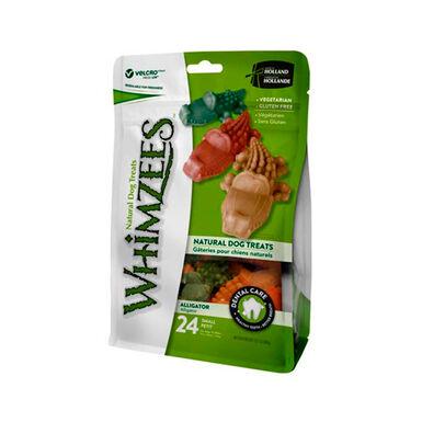 Whimzees Snack natural em embalagem forma Crocodilo para cães