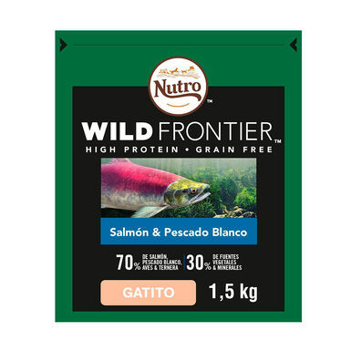 Nutro Wild Frontier Kitten salmão e peixe
