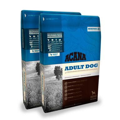 Acana Adult Ração para Cão - 2 x 17kg Pack Poupança
