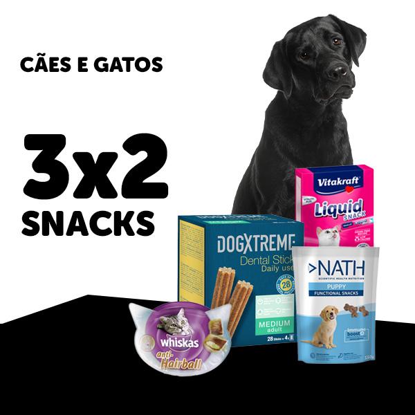 3x2 snacks cão e gato