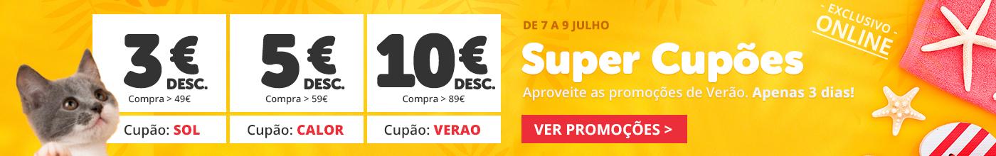 Aproveite até 10€ desconto com Super Cupões