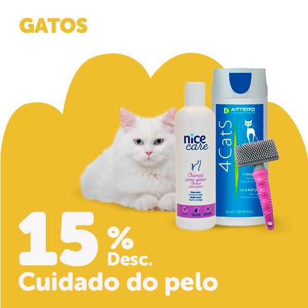 15% de desconto em produtos para o cuidado do pelo de gato
