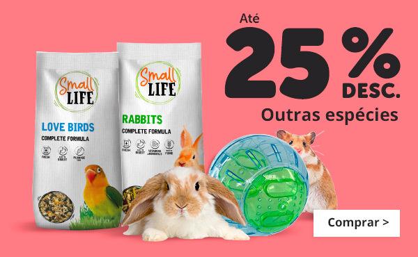 Até 25% pequenos animais
