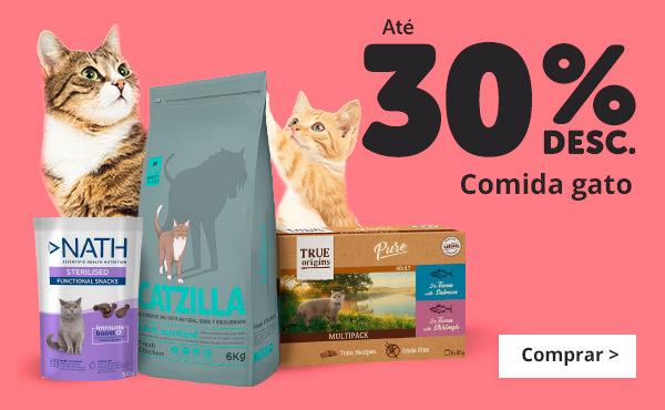 Descontos alimentação gato