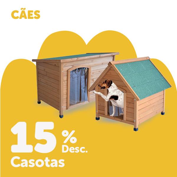 15% de desconto em casotas para cão