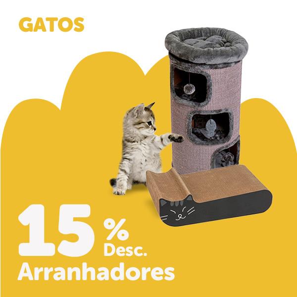 15% de desconto em arranhadores para gatos