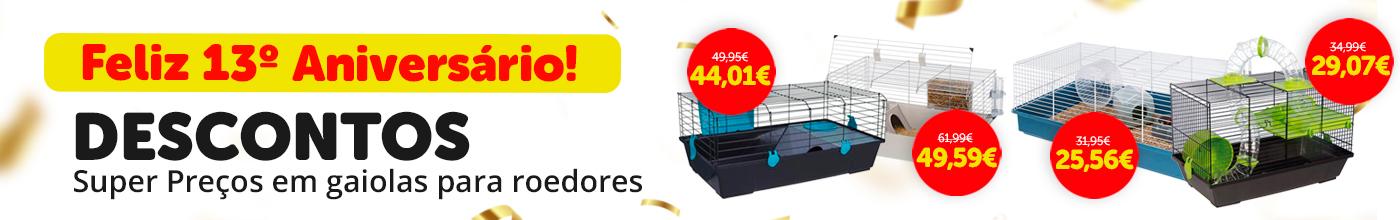 Descontos em seleção de gaiolas para roedores