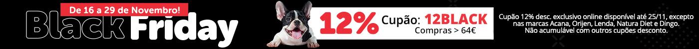 Aproveite já 12% en compras superiores 64€