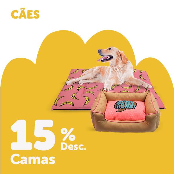 15% de desconto em camas para cão