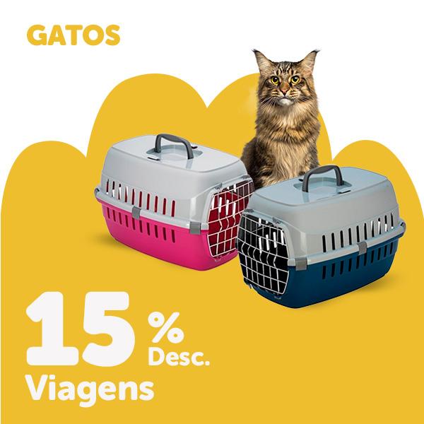 15% de descuento en accesorios viaje para gato
