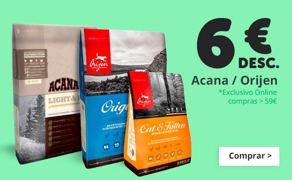 6€ de desconto com Acana e Orijen
