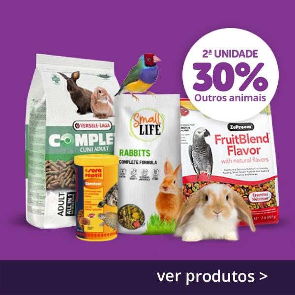2ª a 30% em alimentação seca de outras espécies