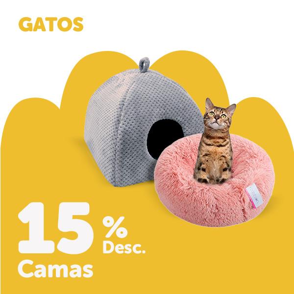 15% de desconto em camas para gato