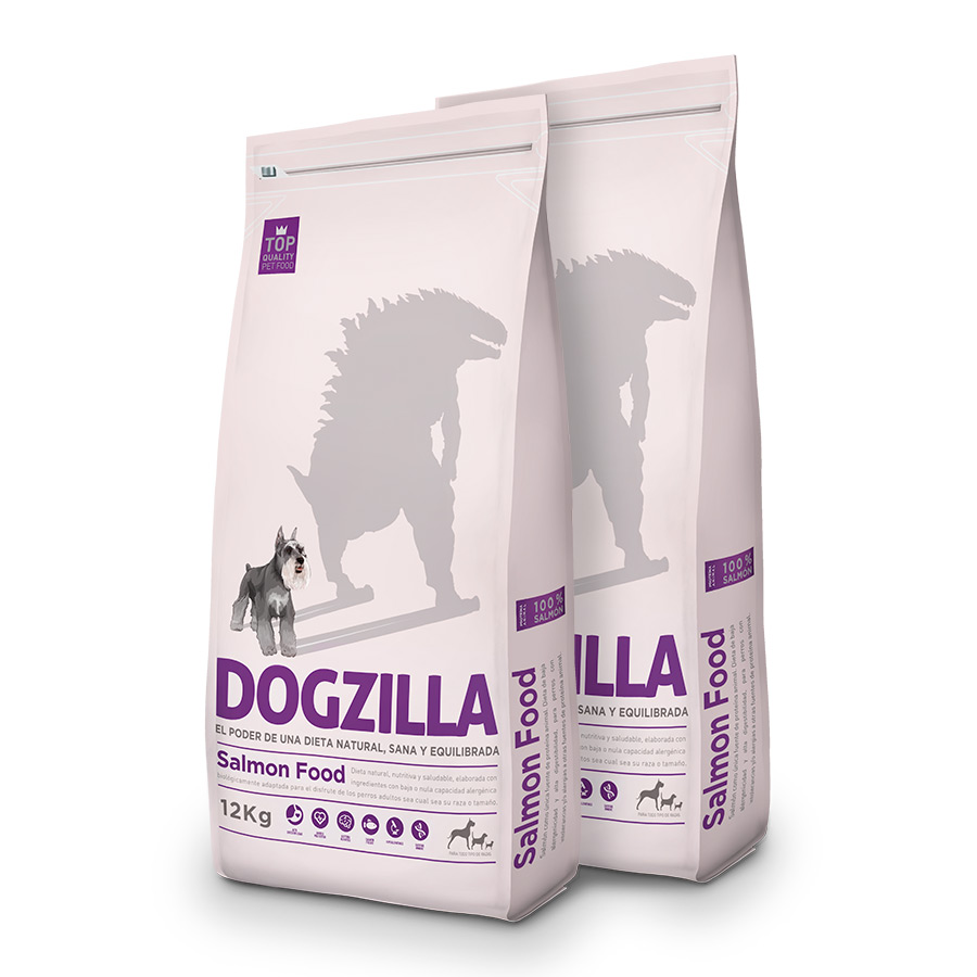 Pienso Dogzilla Salmón PackDuo 12Kg image number null