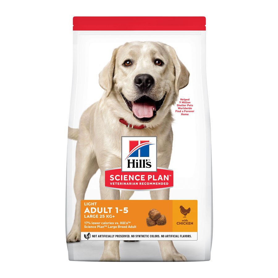 Hill's Adult Light perros razas grandes pollo 14 kg, , large image number null