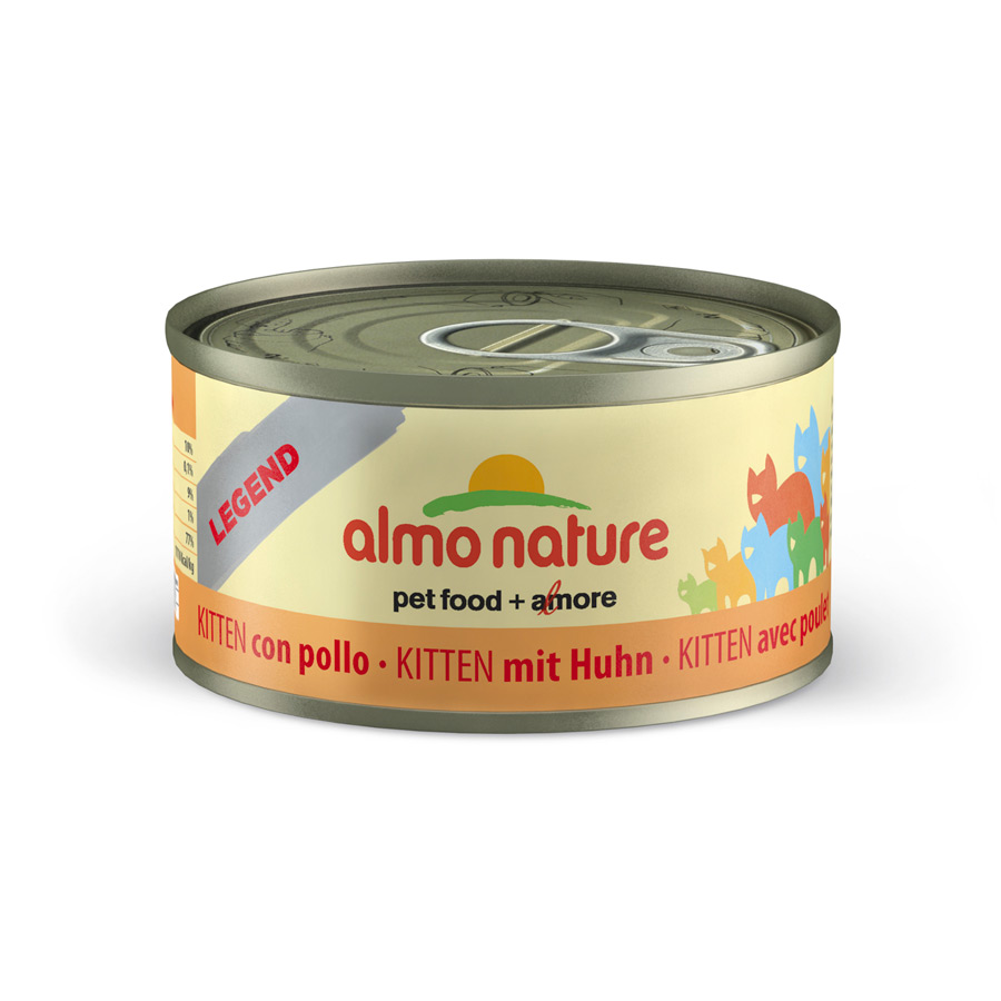 Pack 24 Latas Alimento húmido Almo Nature Legend Kitten 70 g, , large image number null
