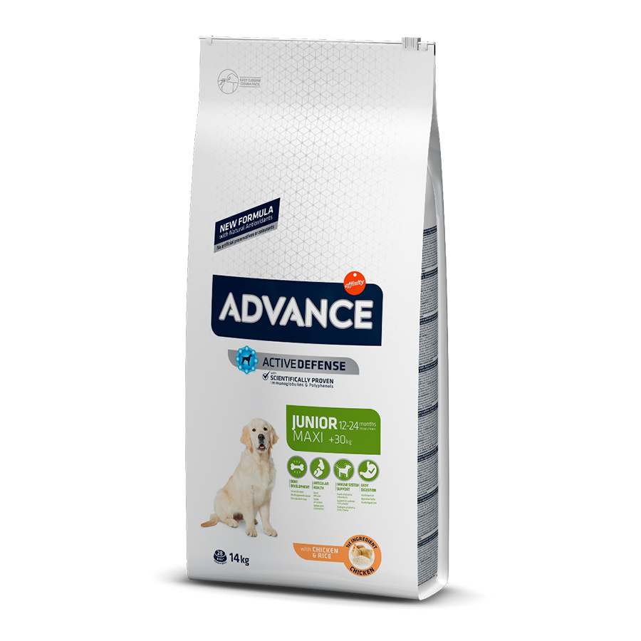 Affinity Advance Maxi Junior frango e arroz 14 kg, , large image number null