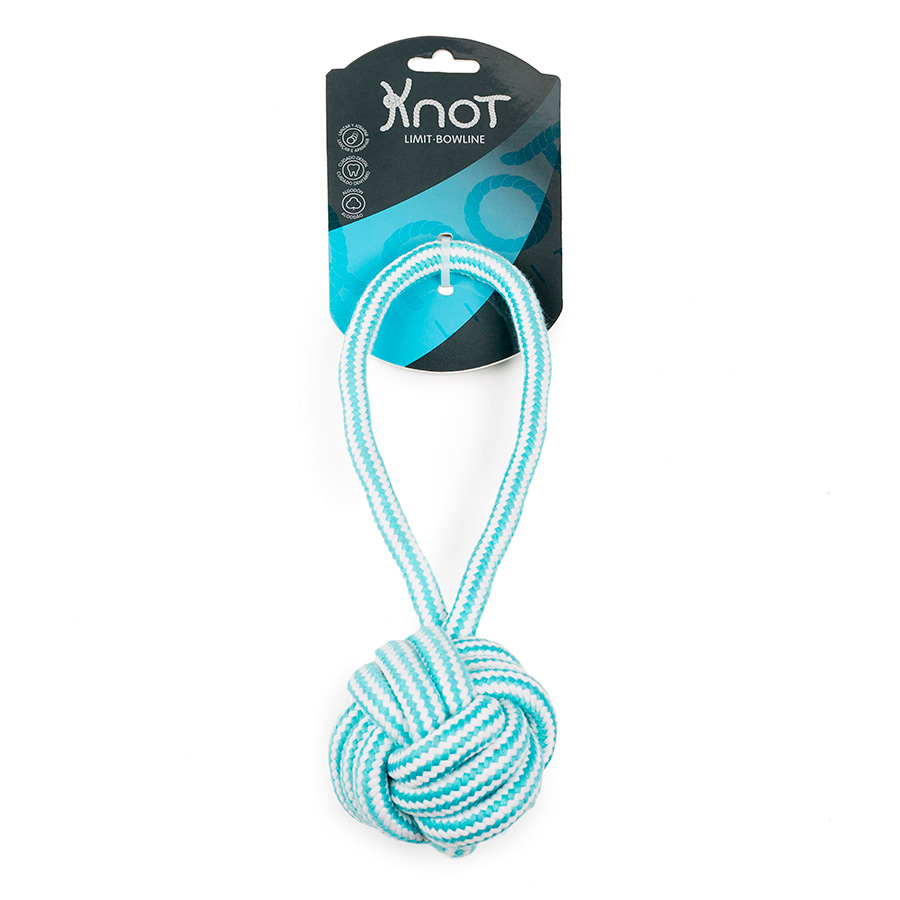 Juguete cuerda dental Knot Limit Bowline Throw Ball, , large image number null