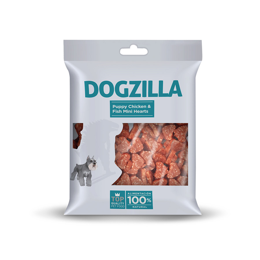 Dogzilla Puppy Mini Hearts 100g Snack para Cão, , large image number null