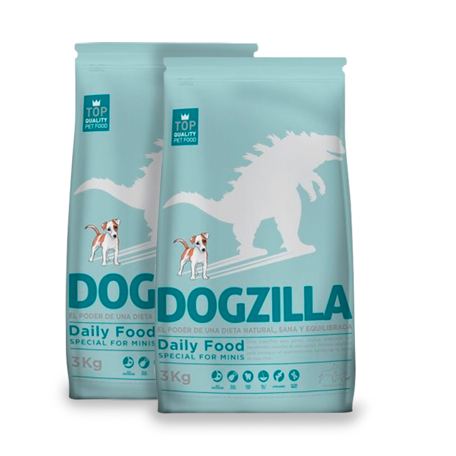 Dogzilla Daily Food Adult Mini Pollo y Arroz - 2x3 kg Pack Ahorro image number null